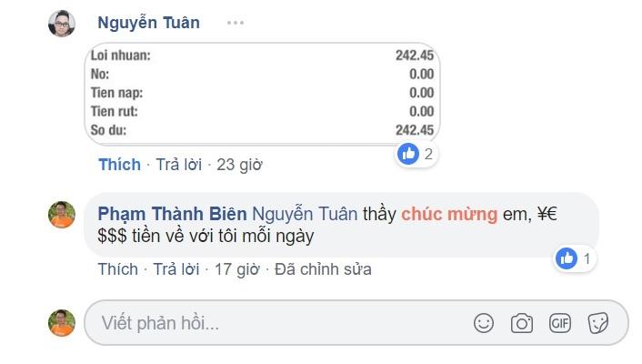 Kết quả học viên Nguyễn Tuân – CASHCHINGPRO K8
